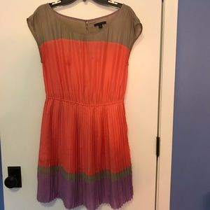 American eagle orange dress with pleated bottom